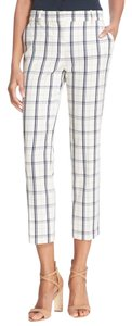 Theory Capri/Cropped Pants Ivory/Blue