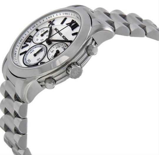 Michael Kors Michael Kors White Dial Silver Tone Stainless Steel Unisex Watch