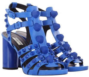 Balenciaga Studded Chunky blue Sandals