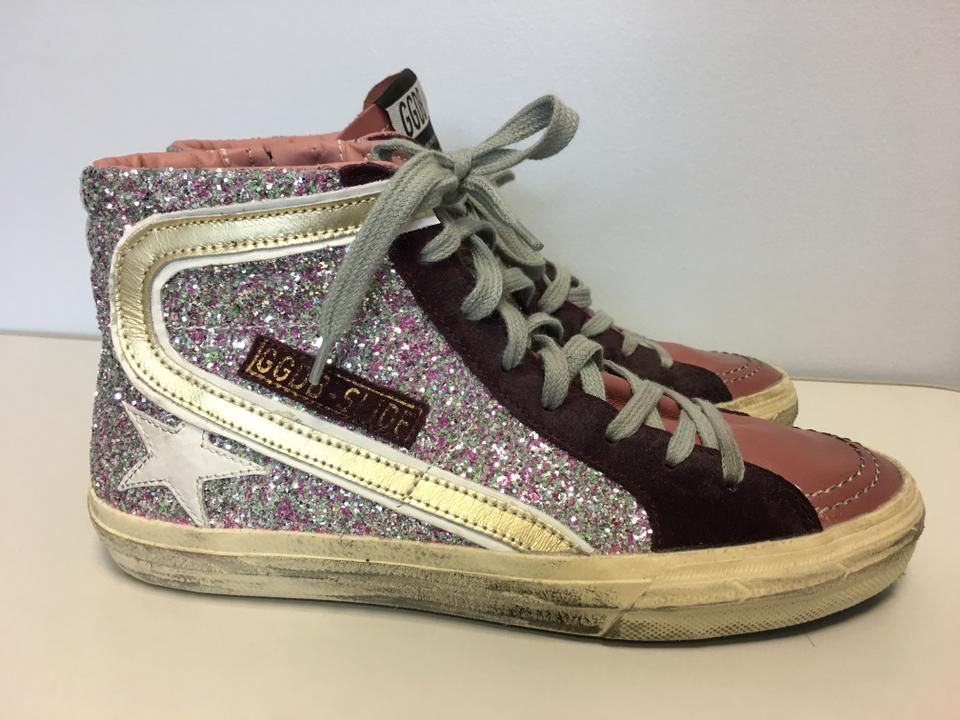 a435876742ad Golden Goose Deluxe Brand Glitter Classics Slide Star Sneakers Multi  Athletic Image 9. 12345678910