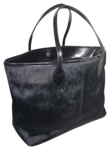 Doncaster Calf Hair Italy Tote in Black
