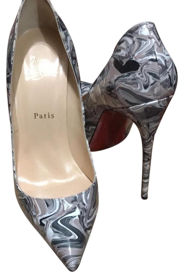 quality design 26bc8 f24bf Christian Louboutin Grey White Taupe Black Marble Pigalle Pumps Size EU  40.5 (Approx. US 10.5) Regular (M, B)