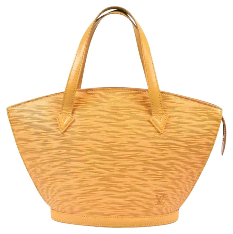 ad32bef0c339 Louis Vuitton Saint Jacques Small Yellow Leather Tote - Tradesy