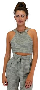 Sugarlips Raindrops Crop Top Tan