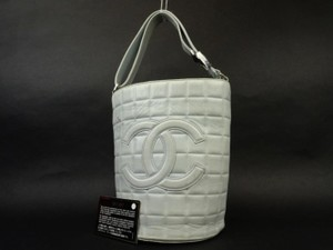 Chanel Bucket Chocolate Bar Classic Gst Pst Tote in Powder Blue