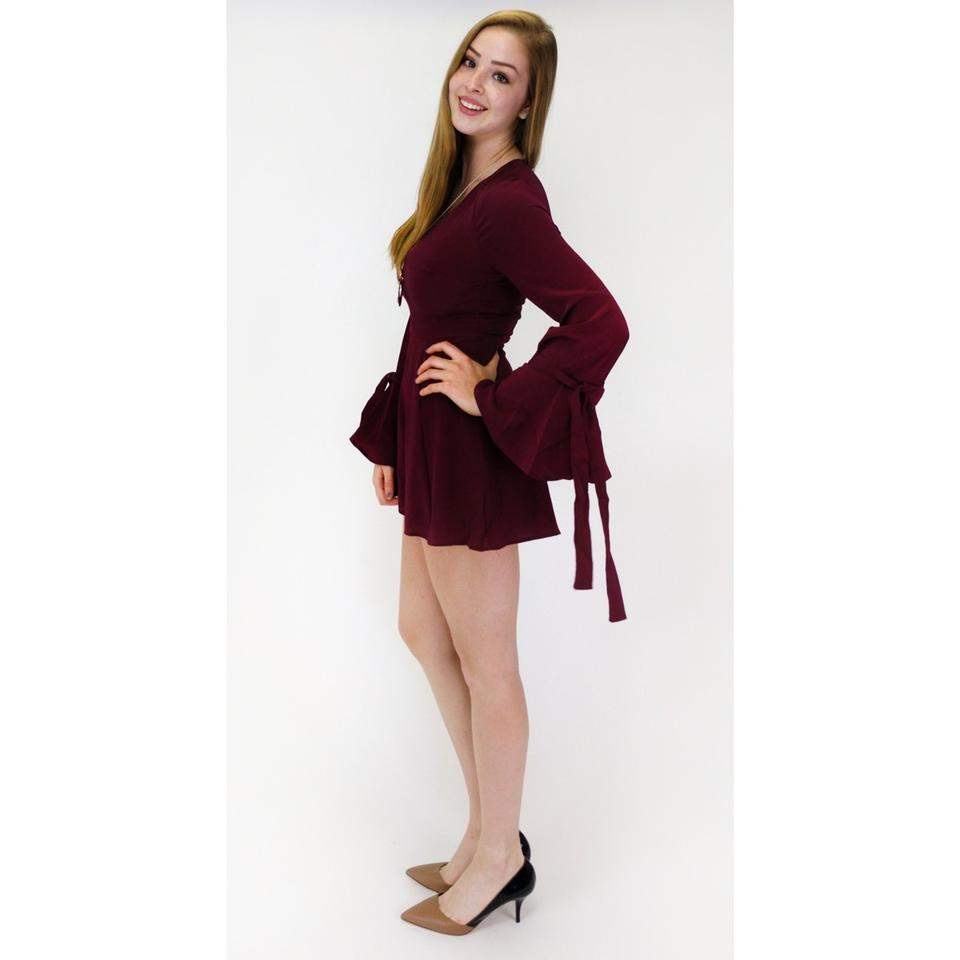 2326eed118c7 Lush Burgundy Merlot To You Too Romper Jumpsuit - Tradesy