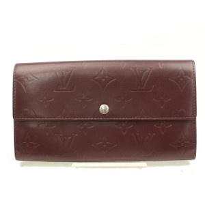 Louis Vuitton Monogram Mat Vernis Portefeuille Sarah Bordeaux 2189927