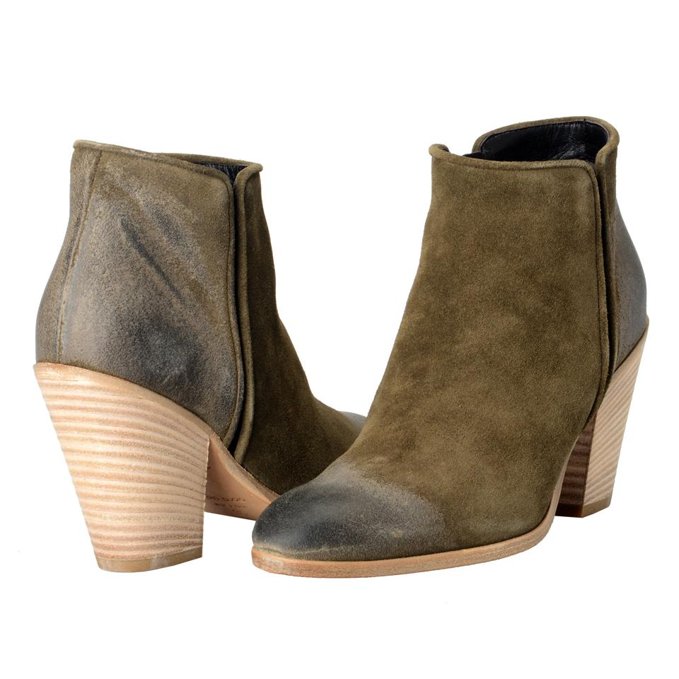 Giuseppe Zanotti Khakis Design Women s Leather Daddy Ankle Boots Booties 46f66653ac