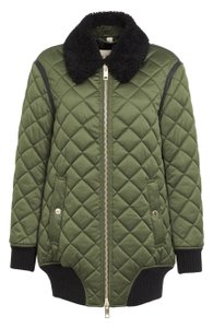 Burberry Shearling Quilted Bomber Winter Fall Coat