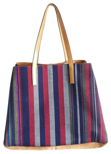 Preload https://item5.tradesy.com/images/multicolor-suede-and-canvas-tote-2228284-0-0.jpg?width=440&height=440