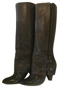 Miss Sixty Leather Knee High Gaucho Brown Boots