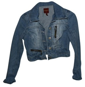 Highway Jeans Cropped Medium Denim Womens Jean Jacket