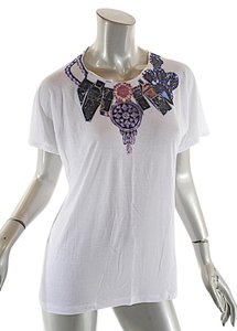 Tom Binns T Shirt White w/multi color