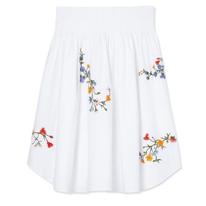 Tory Burch Skirt White Embroidered