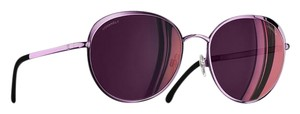 Chanel NEW Chanel 4206 Round Spring Iridescent Purple Mirrored Sunglasses