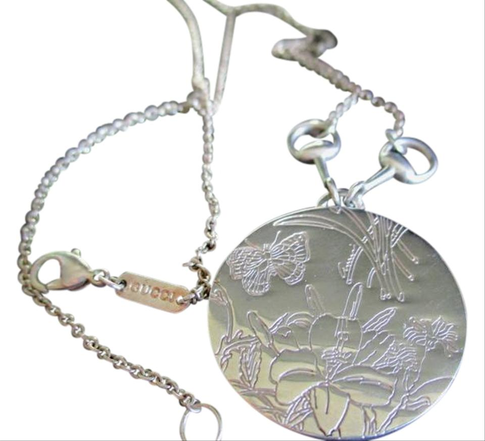 1e495a620 Gucci Rare GUCCI FLORA STERLING SILVER NECKLACE and Pendant Signed Stamped  Image 0 ...