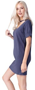 Honey Punch short dress Blue Womens Shirt on Tradesy