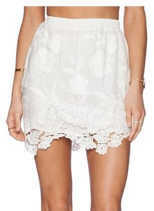 LIV Floral Mini Lace Mini Skirt ivory