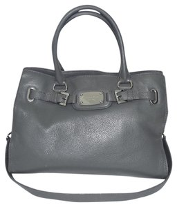 Michael Kors Hamilton Handbag Satchel in Steel Gray/Silver Tone Hardware