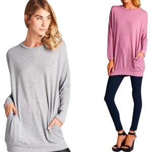Cherish Pockets Sweatshirt Soft Sweater