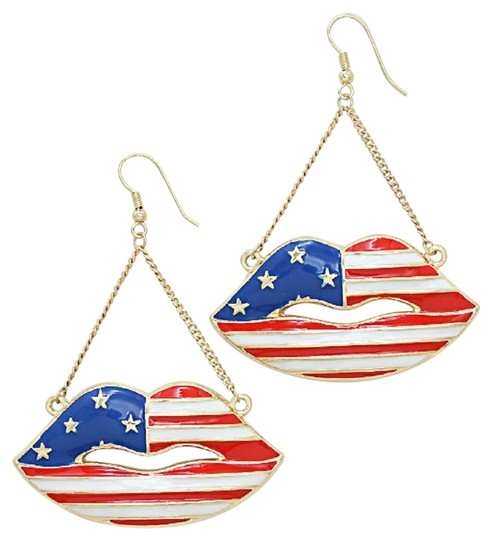 Preload https://img-static.tradesy.com/item/2228456/red-white-and-blue-american-flag-patriotic-stars-stripes-gold-drop-dangle-earrings-0-0-540-540.jpg