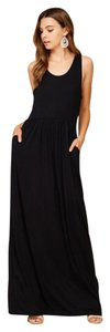 Black Maxi Dress by Annabelle Sleeveless With Pockets Tunic