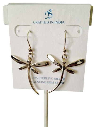 JS Collections Smooth Sterling Silver Dragonfly Dangle Earrings
