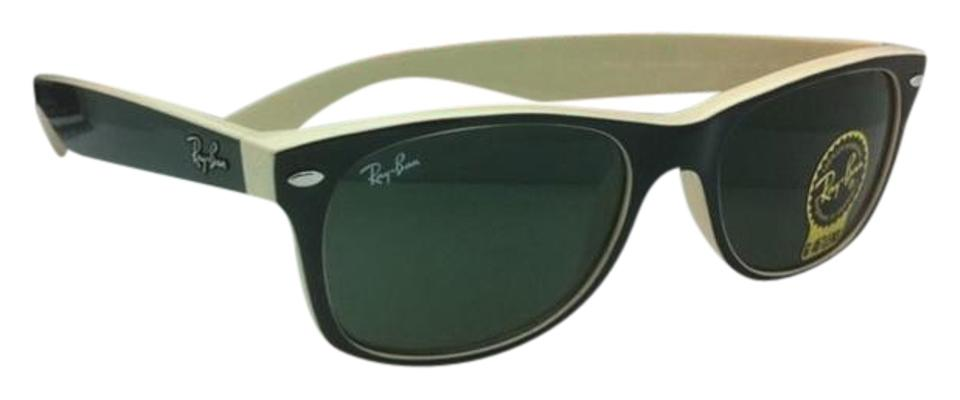 702e75eafbf Ray-Ban Rb 2132 875 52-18 New Wayfarer Black   Beige W  Green Black ...
