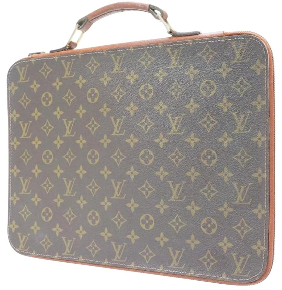 louis vuitton porte ultra rare documents poignee portfolio 222032 monogram canvas laptop bag. Black Bedroom Furniture Sets. Home Design Ideas