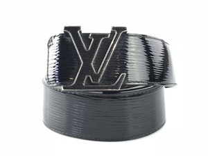Louis Vuitton Black Electric Epi Leather Initiales Belt
