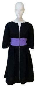 Narciso Rodriguez short dress Black with purple detail on Tradesy