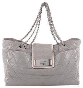 Chanel Leather Tote in Gray