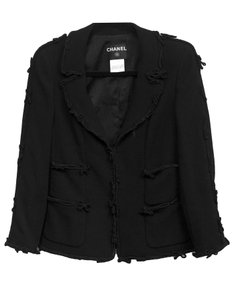 Chanel Wool Bow Blazer black Jacket