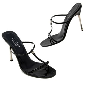Gucci Gg Monogram Bamboo Horsebit Black Pumps
