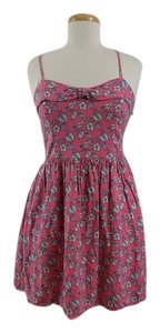 LC Lauren Conrad short dress Pink Sakura Birds Medium on Tradesy