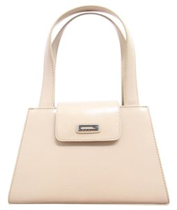 Guess Leather Clasp Nude Clutch