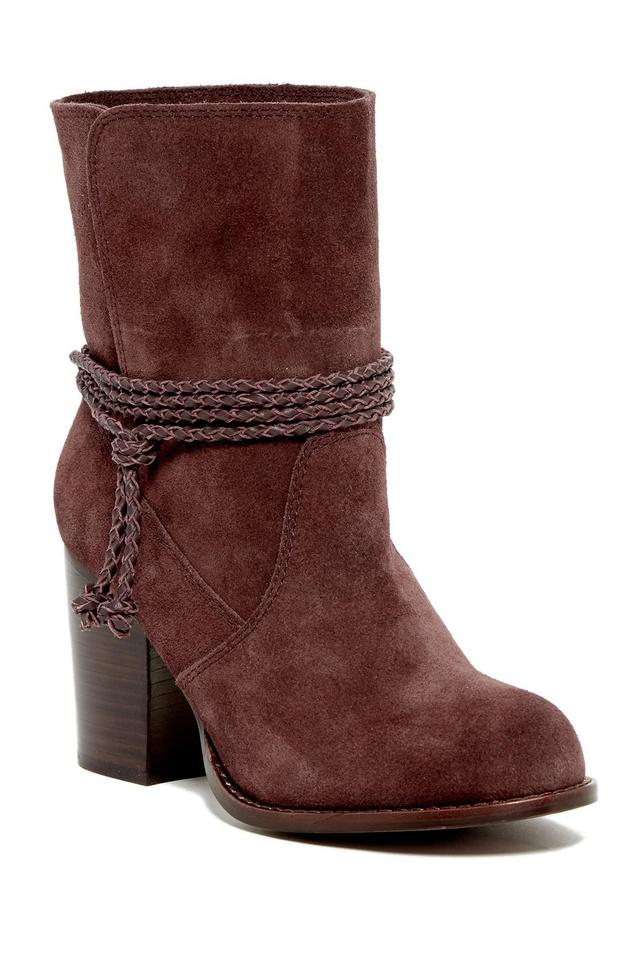 Splendid Dark Wine Accents Bohemian Vibe Deep Braided Accents Wine New Boots/Booties 12e4cf