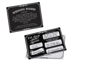 Black/White Wedding Wishes Cards 48 Count Guest Reception Wishes Cards