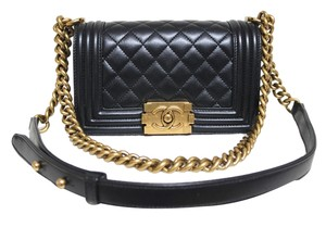 Chanel Pealy Calfskin Antiqued Hardware Cross Body Bag