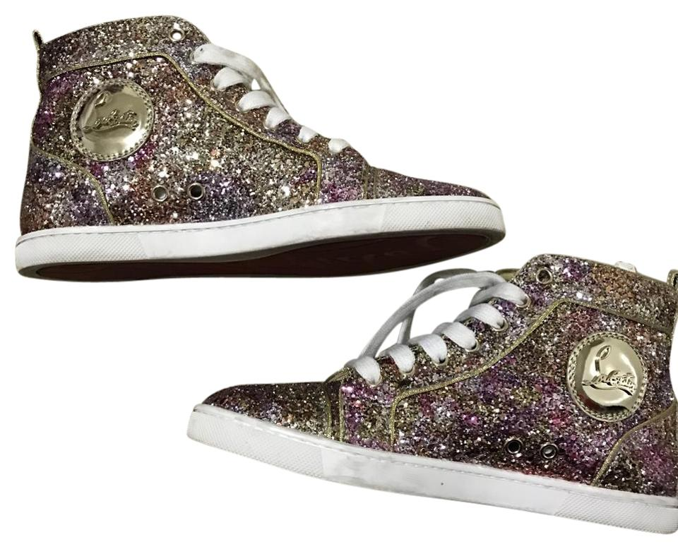 8b1dd16fa41b3 Christian Louboutin Sneakers Gentle Used Size 6 Cl Sneaker Multi Color  Glitter Athletic Image 0 ...