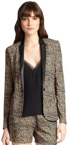 The Kooples Leather Leopard Blazer