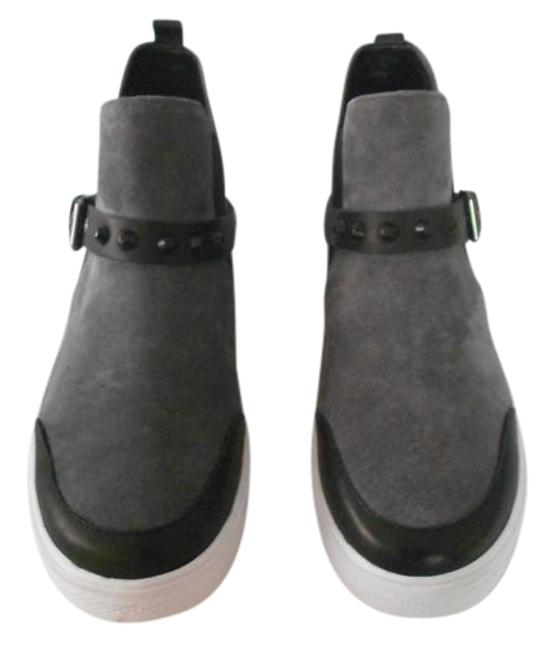 Item - Grey Stud Accented Slip On Mid Top Suede Sneakers Size EU 39 (Approx. US 9) Regular (M, B)