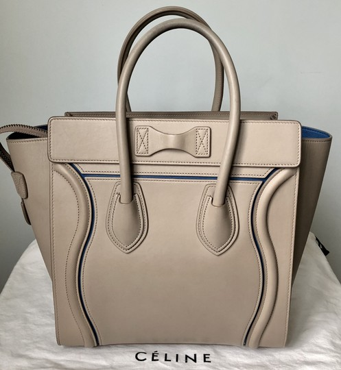 fb4a8e268846 Snap Celine Micro Luggage Light Taupe Calfskin Tote Handbag ...