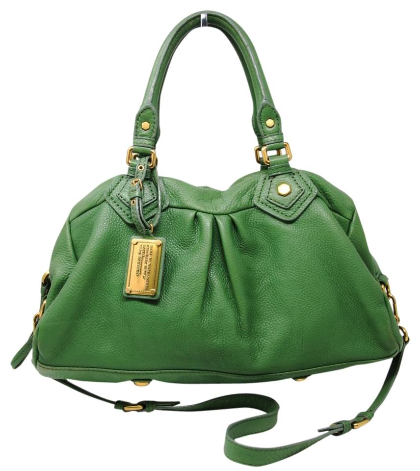 Satchel Bag by Grained Green Hardware Gold Leather Jacobs Crossbody Marc Signature Marc Shoulder xYdIwqZ7Y