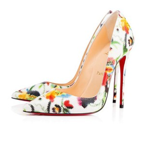 Christian Louboutin Sokate Kate Pigalle Stiletto Mosaique white Pumps
