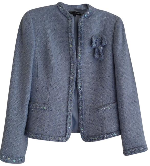 Isabella DeMarco Powder Jacket Tweed Sequins Blue Blazer