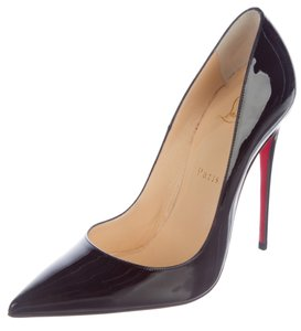Christian Louboutin So Kate Pigalle Patent Leather Pointed Toe Red Sole Black Pumps
