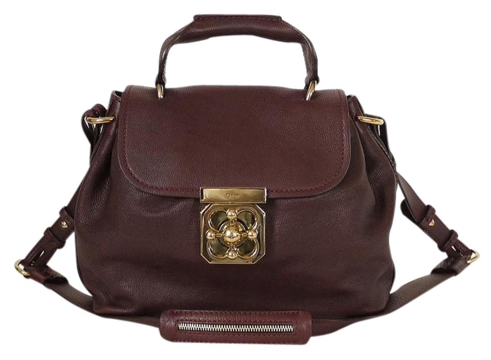 buy cheap high quality guarantee quality first Chloé Shoulder Elsie 2way Burgundy Leather Cross Body Bag 77% off retail