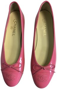 Chanel Ballerina Classic Patent Leather Pink Flats