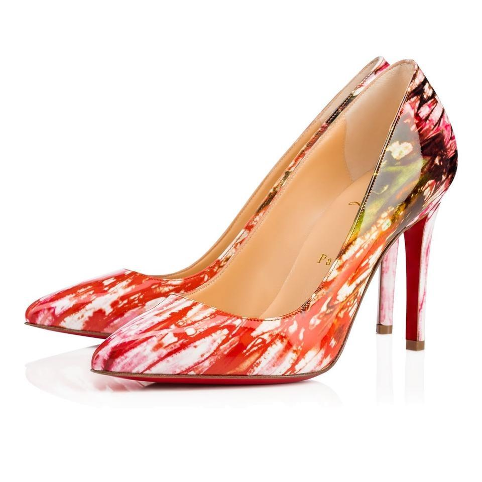 meet 8362a 6d5f3 Christian Louboutin Multicolor Classic Pigalle 100mm Bazin Pompadour Patent  Leather Point-toe Pumps Size EU 40 (Approx. US 10) Regular (M, B)